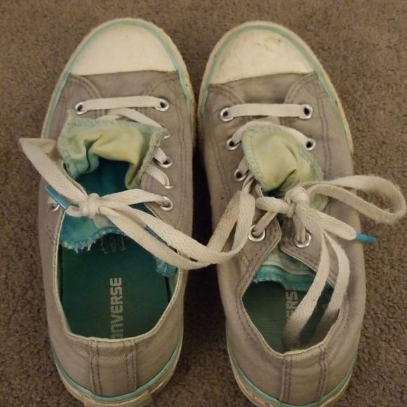 Chuck Taylor Grey Turquoise Kids Sz 3